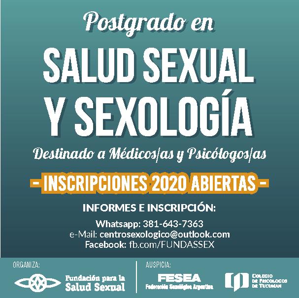 POSTGRADO SALUD SEXUAL Y SEXOLOGÍA