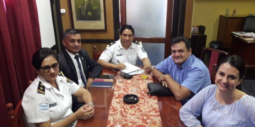 Reunión con autoridades de la Policía Provincial  y el Colegio de Psicólogos de Tucumán