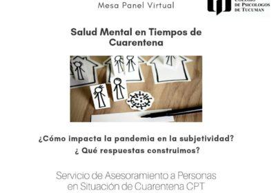 Salud Mental en tiempos de Cuarentena. Mesa Panel Virtual