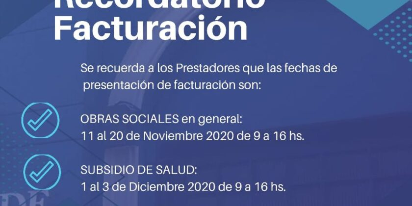Recordatorio de Facturación
