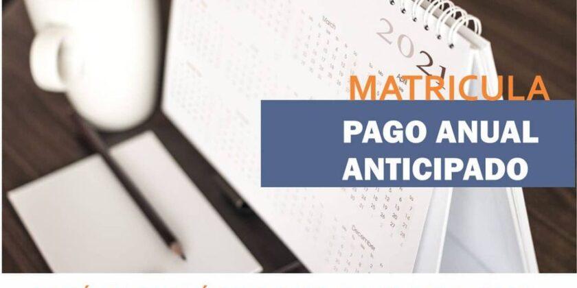 PAGO ANUAL de Matrícula
