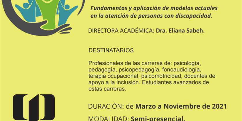 Curso Internacional para profesionales del campo de la discapacidad