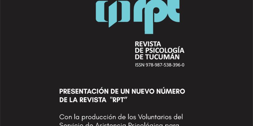 PRESENTACIÓN DE UN NUEVO NÚMERO DE LA REVISTA  «RPT»