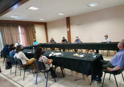 Reunión de  la Cámara de Colegios Profesionales del sector Salud