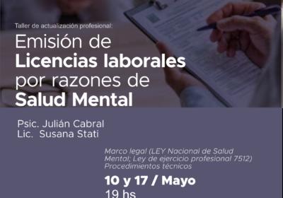 Emisión de Licencias laborales por razones de Salud Mental