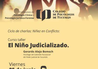 Ciclo de charlas:  Niñez en Conflicto:  El Niño Judicializado.