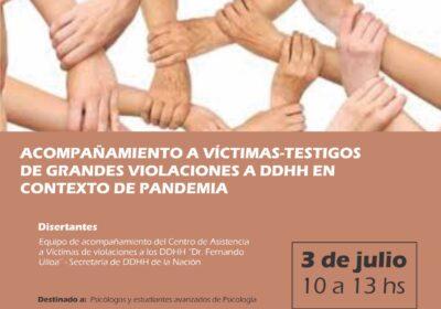 Acompañamiento a víctimas-testigos de grandes violaciones a DDHH en contexto de pandemia