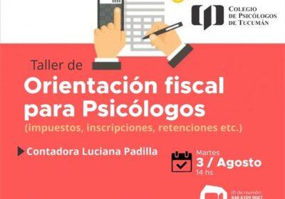 Taller de Orientación fiscal para Psicólogos